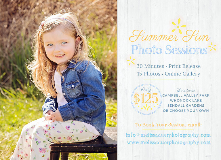 Summer Sun Sessions / Melissa Auer Photography / Maple Ridge, BC, Canada