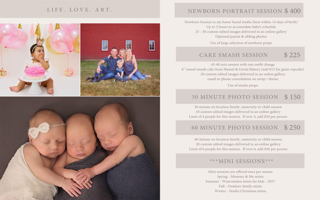 Melissa Auer Photography - pricing
